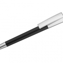 czarny długopis ze świecącym logiem