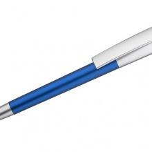 niebieski długopis ze świecącym logiem