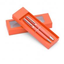 pomarańczowy zestaw piśmienniczy