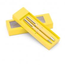 żółty zestaw piśmienniczy