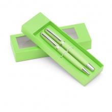 zielony zestaw długopis i pióro