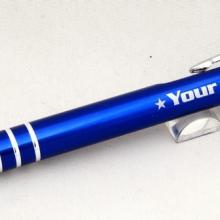 niebieski długopis touch pen z grawerem