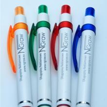 plastikowe długopisy z logo