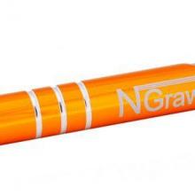 pomarańczowy długopis z grawerem