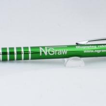 zielony metalowy długopis z grawerem