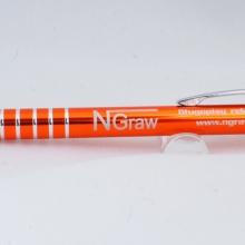 pomarańczowy metalowy długopis z grawerem