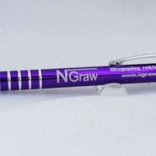 fioletowy metalowy długopis z grawerem