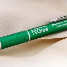 zielony długopis metalowy z grawerem
