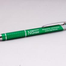 zielony długopis z grawerem