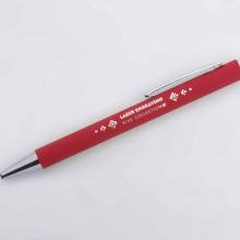 czerwony długopis z lustrzanym grawerem