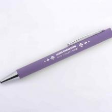 fioletowy długopis z lustrzanym grawerem