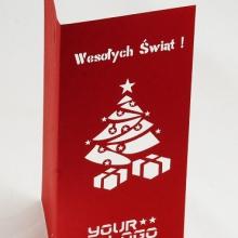 papierowa kartka świąteczna