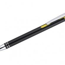 żółty długopis z logo