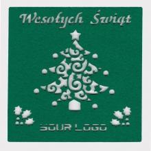 indywidualna kartka świąteczna z filcu