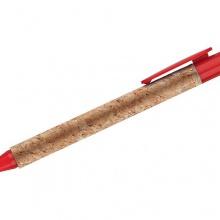 czerwony długopis korkowy