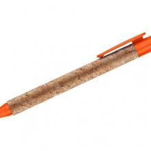 pomarańczowy długopis korkowy