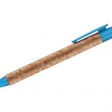 niebieski długopis korkowy