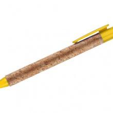 żółty długopis korkowy