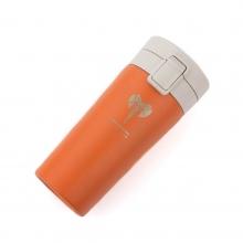 pomarańczowy kubek termiczny z grawerem
