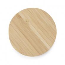 Bambusowa ładowarka indukcyjna okragła