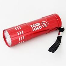 latarka z grawerem czerwona