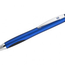 niebieski długopis z podświetlanym logiem