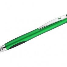 zielony długopis z podświetlanym logo