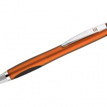 pomarańczowy długopis z podświetlanym logo