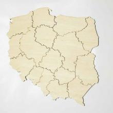 mapa polski sklejka magnes