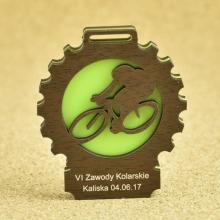 medal rowerzysta pleksi