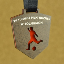 medal piła nożna pleksi