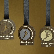 medal z laminatem grawerskim
