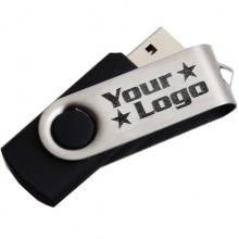 Czarny USB z grawerem