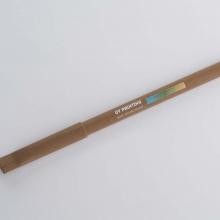 brązowy długopis z drukiem UV