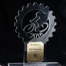 statuetka rowerzysta