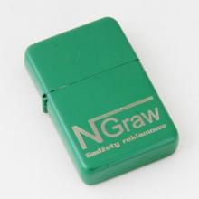 zapalniczka benzynowa z grawerem zielona