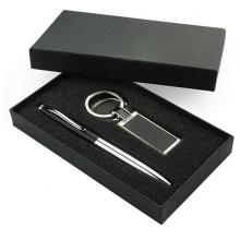 zestaw  długopis i brelok czarny