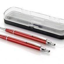 zestaw piśmienniczy długopis i ołówek czerwony